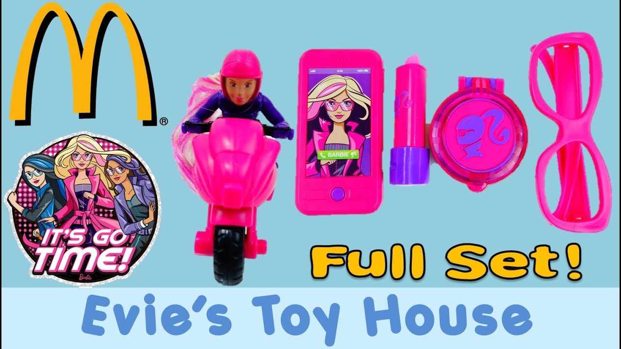 2016 McDonalds Happy Meal Barbie Spy Squad Complete Set | Evies Toy House