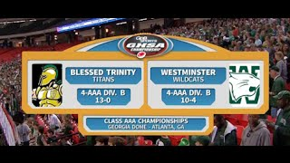 Blessed Trinity vs. Westminster