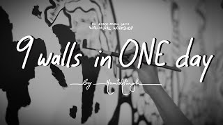 9 Walls In One Day | Wall Art Movie | By Mamta Singh | 2020