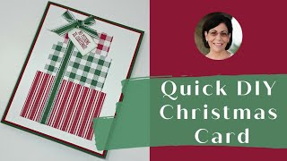 How To Make A DIY Christmas Card In A Flash