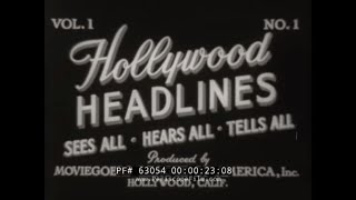 1950s GAG NEWSREEL   HOLLYWOOD HEADLINES  SWIMSUIT FASHION SHOW & MODELS CARRY THE MAIL  63054