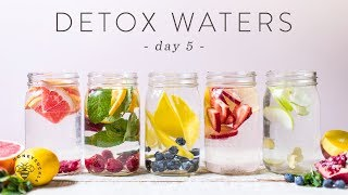 5 DETOX WATERS For Weight Loss, Beauty, & Health 🐝 DAY 5 | HONEYSUCKLE