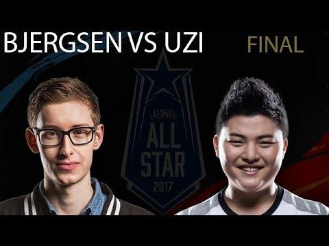 Bjergsen vs Uzi 1v1 Final ALL-GAMES | All Stars 2017 Grand Final 1v1 Tournament