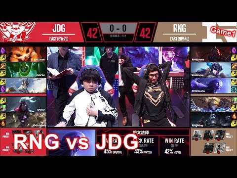 2018/3/20 咖哥Let咪再次先發迎戰京東 上路差距Zoom各種關鍵控制丨RNG vs JDG Game1