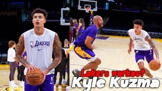 Lakers Kyle Kuzma 1 on 1 workout and Scrimmages