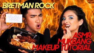 BRETMAN ROCK | ASMR Mukbang Makeup Tutorial! | Shay Mitchell
