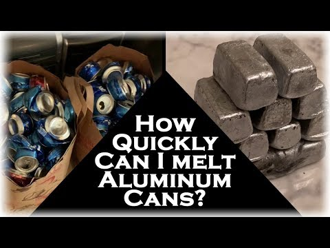 How Fast Can I Melt Aluminum Cans? 2 Bags Full Into Pure Aluminum Ingots