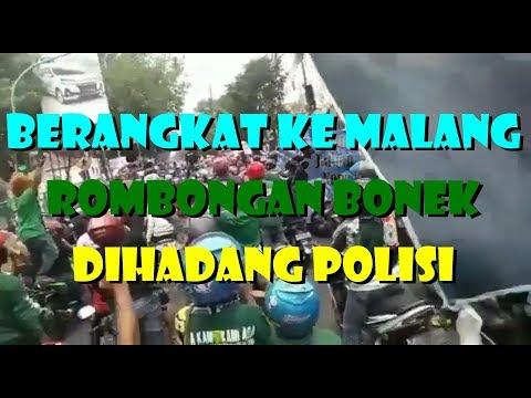 ROMBONGAN BONEK DIHADANG POLISI SAAT BERANGKAT KE MALANG