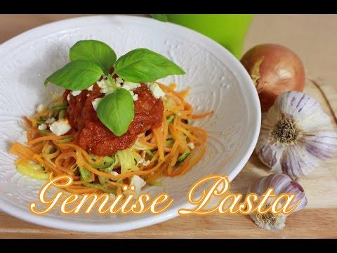 Gemüse-Spaghetti aus Zucchini & Karotten - Nudeln ohne Kohlenhydrate