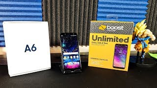 Samsung Galaxy A6 Unboxing and FIrst Boot UP (Boost Mobile) HD