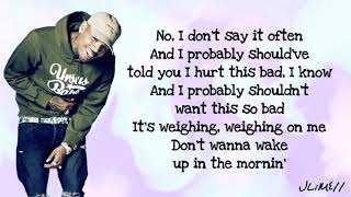 Chris Brown   Undecided (Lyrics)