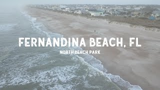 Fernandina Beach, Florida - Amelia Island - Drone Flight at North Beach Park