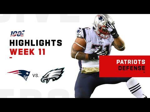 Patriots Defense Stops Eagles w/ 5 Sacks   NFL 2019 Highlights