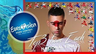 Eurovision 2019 - MY TOP3 From Each National Selection | #ESC19 | PART VII