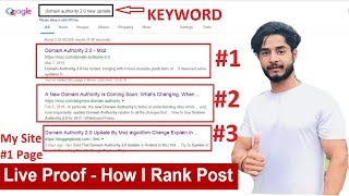 How To Rank #1 On Google in 2019  | SEO (Search Engine Optimization) Learn SEO Step by Step