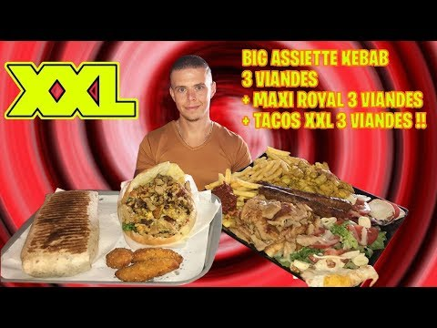 BIG ASSIETTE KEBAB 3 Viandes + MAXI ROYAL 3 Viandes + TACOS XXL 3 Viandes !! (#3 Food Tour Nantes)