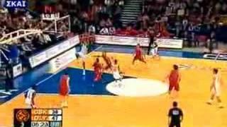 cska vs olympiakos 74-76 2007-08 euroleague playoff