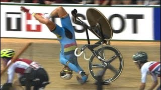 Les plus grosses chutes du cyclisme sur piste (track cycling)