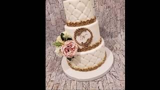 Cake Decorating Tutorial / DIY Letter Monogram for Wedding Cake Tutorial