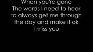 When you're gone - Avril Lavigne (+ Lyrics)