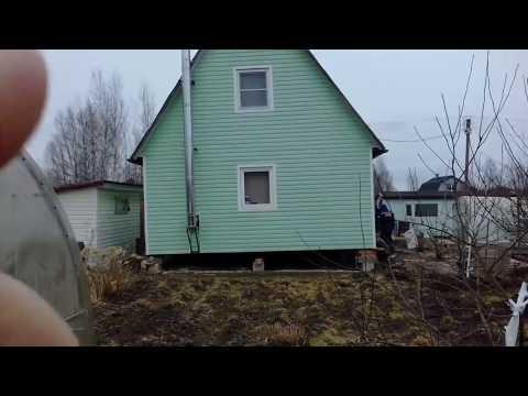 Подъем дома на винтовые сваи | Ремонт фундамента