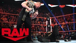 After 24/7 Champion R-Truth declares then undeclares for the Royal Rumble, WWE Champion and No. 1 Royal Rumble Match entrant Brock Lesnar sends him on a one-way trip to Suplex City. Catch WWE action on WWE Network, FOX, USA Network, Sony India and more.  #RAW  GET YOUR 1st MONTH of WWE NETWORK for FREE: http://wwe.yt/wwenetwork --------------------------------------------------------------------- Follow WWE on YouTube for more exciting action! --------------------------------------------------------------------- Subscribe to WWE on YouTube: http://wwe.yt/ Check out WWE.com for news and updates: http://goo.gl/akf0J4 Watch WWE on Sony in India: http://www.sonypicturessportsnetwork.com/sports-details/18/wwe Find the latest Superstar gear at WWEShop: http://shop.wwe.com --------------------------------------------- Check out our other channels! --------------------------------------------- The Bella Twins: https://www.youtube.com/thebellatwins UpUpDownDown: https://www.youtube.com/upupdowndown WWEMusic: https://www.youtube.com/wwemusic Total Divas: https://www.youtube.com/wwetotaldivas ------------------------------------ WWE on Social Media ------------------------------------ Twitter: https://twitter.com/wwe Facebook: https://www.facebook.com/wwe Instagram: https://www.instagram.com/wwe/ Reddit: https://www.reddit.com/user/RealWWE Giphy: https://giphy.com/wwe ------------------------------------ WWE Podcasts ------------------------------------ After the Bell with Corey Graves: http://bit.ly/afterthebellpodcast The New Day: Feel the Power: https://link.chtbl.com/7Fp6uOqk