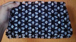 পুতির সূর্যমুখী ব্যাগ,how to make beaded sunflower bag (part 1),beaded bag