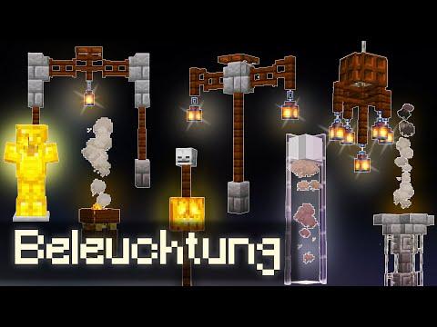30+ Beleuchtungs Ideen in Minecraft 1.14 | Minecraft Laternen bauen | Minecraft Beleuchtung 1.14