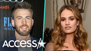 Chris Evans & Lily James Step Out In London