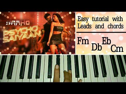 Psycho Saiyaan | Easy Piano Tutorial | Saaho | Prabhas, Shraddha Kapoor | Tanishk Bagchi, Dhvani B