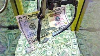 MONEY CLAW MACHINE! $600 ARCADE CRANE GAME FUN CHALLENGE FOR CHARITY!