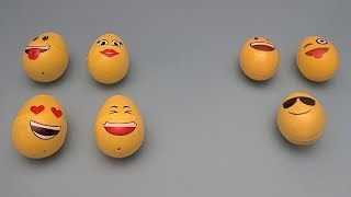 Learning Greater Than Less Than and Equal To with Surprise Eggs! With Funny Faces!