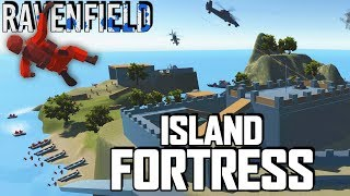 INVINCIBLE ISLAND FORTRESS!  Amazing Castle Island Map (Ravenfield Early Access Beta Gameplay