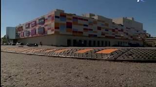 У торгово-развлекательного центра «Мармелад» началась установка лежачих полицейских