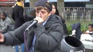 Great BeatBox Performance in Leicester Square by CONTRIX, London Street Music