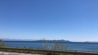 【生配信のおっさん】〜高島市前の湖岸〜
