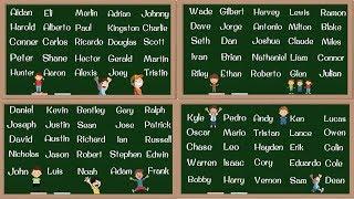BOY Names! 100 Most Popular Baby Boy Names in English   English Pronunciation