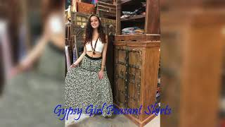 BOHO CHIC GYPSY GIRL PEASANT SKIRTS