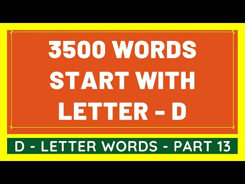 3500 Words That Start With D #13 | List of 3500 Words Beginning With D Letter [VIDEO]