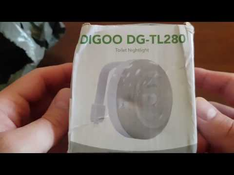 Banggood Digoo DG-TL280 8-Colors Motion Activated LED Toilet PIR with Surface Light- Unboxing