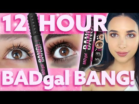IS IT AWFUL?? HONEST New Benefit BADGAL BANG Mascara 12 HOUR WEAR TEST & Review | Mar