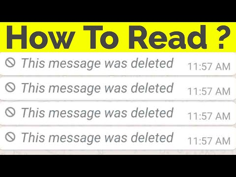 How To Read Deleted Messages On Whatsapp Messenger||This Message Was Deleted