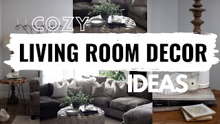 2020 LIVING ROOM DECORATING IDEAS | How To Decorate A Cozy Living Room | Brandy Jackson