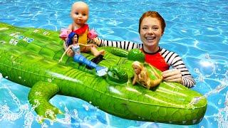 Puppenvideo auf Deutsch - 2 Folgen am Stück - Spaß mit Baby Born Puppen