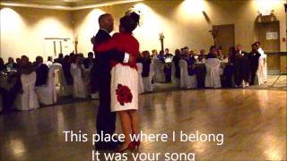 It's your song.....Mom & Son wedding-day dance