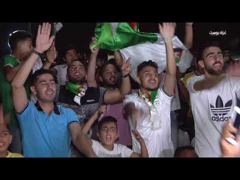 إحتفالات في قطاع غزة فرحة بفوز منتخب الجزائر بكأس أمم افريقيا