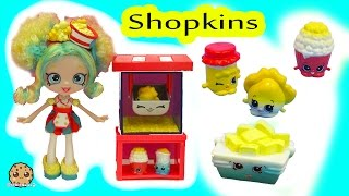 Shoppies Poppette's Popcorn Stop Exclusive Doll Playset Cart & Season 5 Shopkins