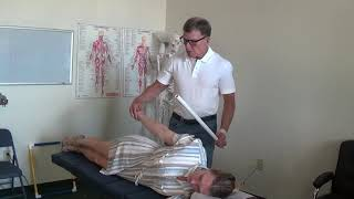 Counter rotational mobilization to open up the carpal tunnel, mobilize the wrist bones, treat tendon