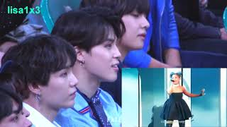 180520 BTS (V,Jimin,Suga) Reaction To Ariana Grande   No Tears Left To Cry