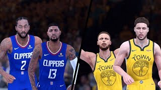 NBA 2K19 - Los Angeles Clippers vs. Golden State Warriors - Full Gameplay (Updated Rosters)